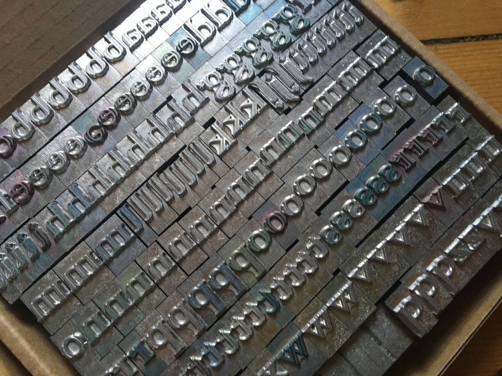 36pt Colonna Letterpress Type