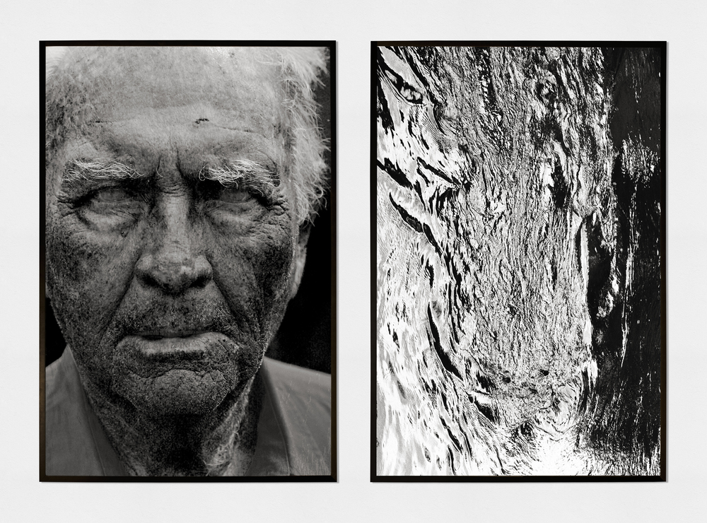 grand father / black water (2015) (photographic prints on fine art paper, 120cm X 80cm each)