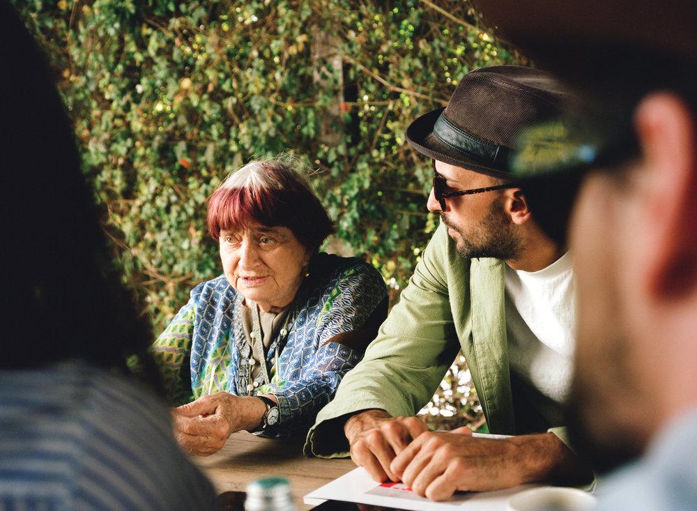 Agnes Varda & JR being interviewed