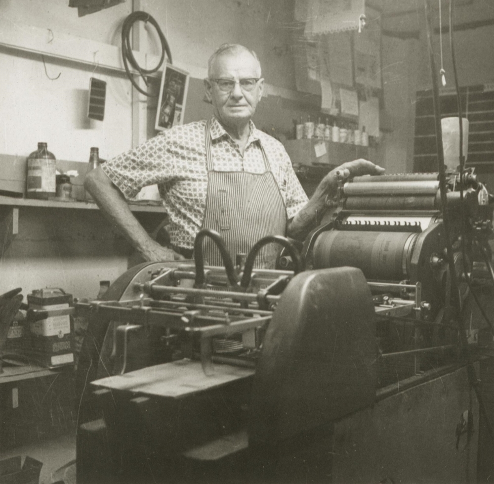 Ralph Fletcher operated the press for what was then called Oregon Yearly Meeting Press.