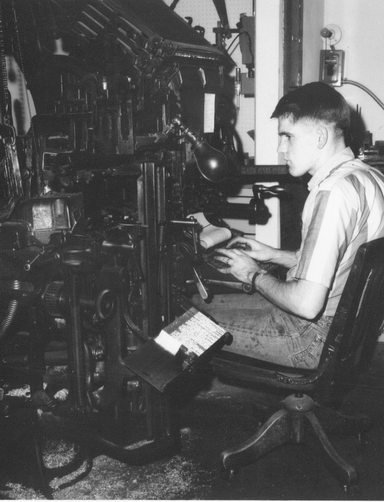 Dan McCracken began working at Barclay Press in 1967 as a Linotype operator.