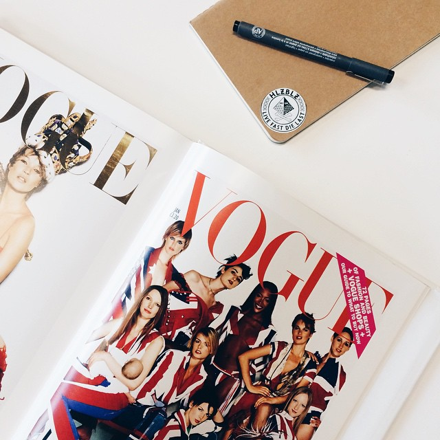 Looking through archived #Vogue covers in the office today ⭐️⭐️⭐️