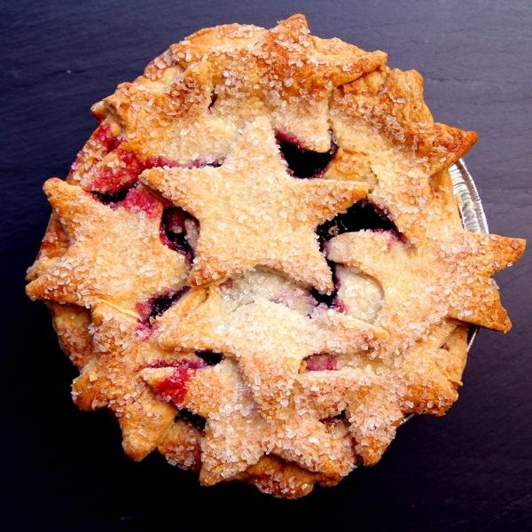 Elle's Belles Bakery's Starry Triple Berry pie