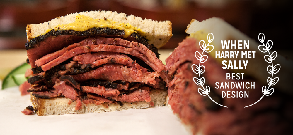 Katz's Delicatessen—When Harry Met Sally Order a pleasure filled pastrami on rye—the same sammie that caused Meg Ryan's famous meat-gasm in When Harry Met Sally. Talk about best pastrami in a leading role.