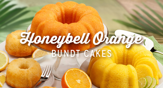 Florida Honeybell Bundt Cakes