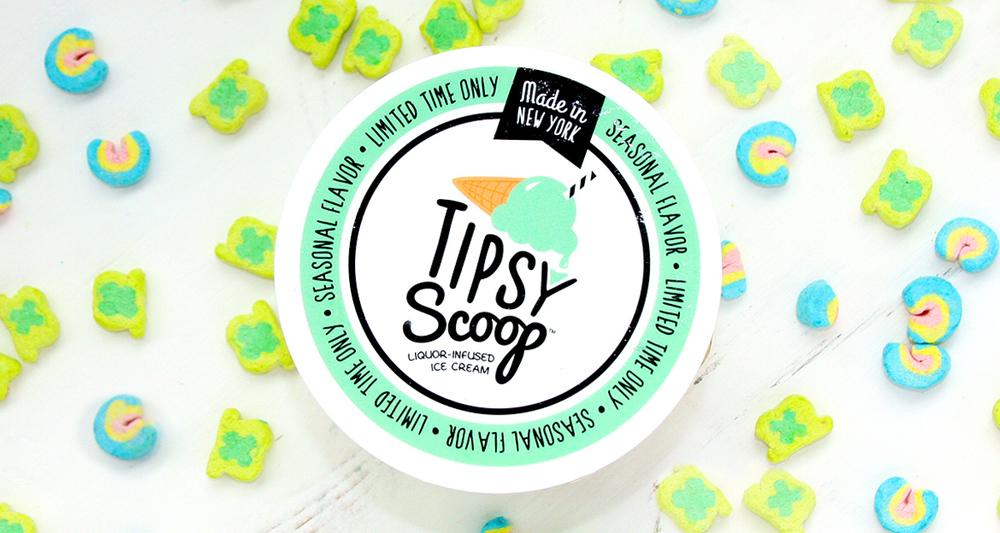 Tipsy Scoop's Limited Edition St. Patrick's Day Liquor-Infused Ice Cream