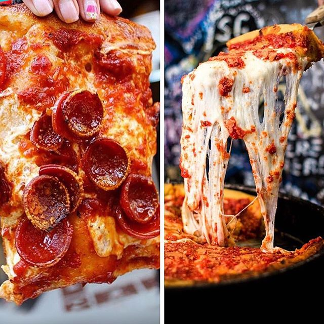 Epic #FOODFIGHT alert! 🚨Prince Street Pizza NY #square 🍕 is battling Gino's East Chicago #deepdish 🍕 and we are calling all true #foodexplorers to vote for the TASTIEST BITE of 2019. Our 7th annual #MunchMadness Tournament is back! 64 of the country' top dishes are battling for the championship title. Tap link in bio to fill your bracket and get $25 off your next order! And may the best dish win! #goldbelly #foodexplorer