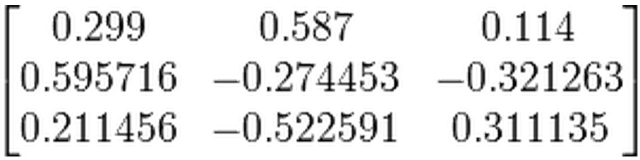 Cue handwaving about how to multiply matrices. ( Source,  and for the  curious )