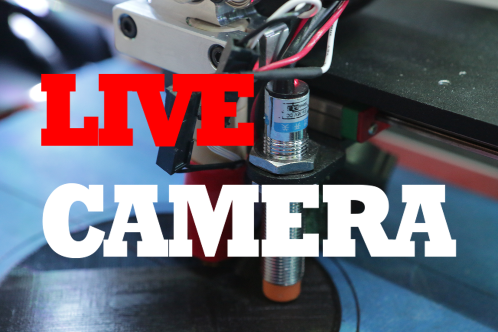 Click here to watch 3D prints being created LIVE!