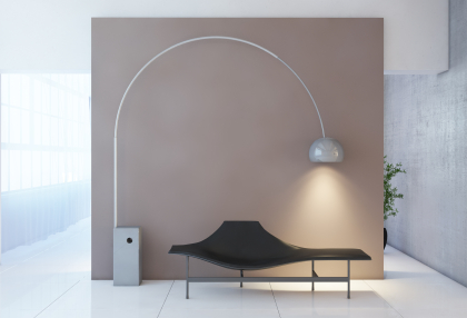 An Ultra Modern lamp can shape a room in an instant.