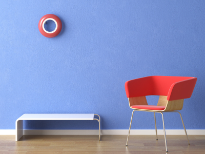 Colourful walls can make a dull room standout, especially if the wall is offset by other colours