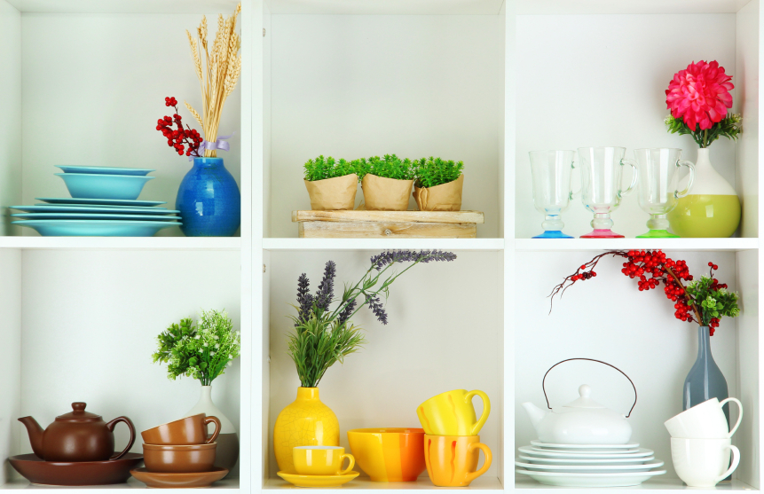 Using nature in your storage spaces can add colour, light and a fresh vibe to a room.