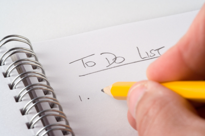 Writing in depth lists can be a great way to ensure you proactively get the right things done.