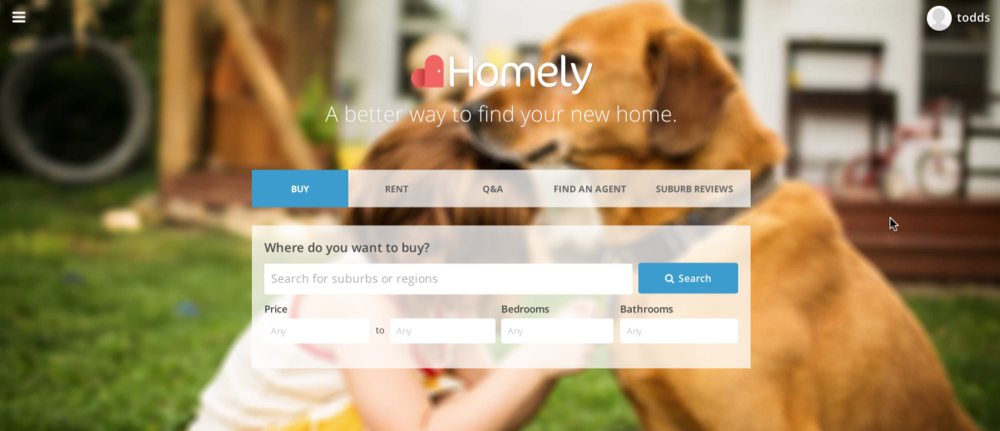 Homely.com.au 's focus on User Experience is central to how they offer you the tools to search for your new home.