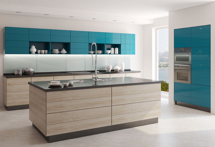 Light coloured materials are popular in kitchen designs at the moment.