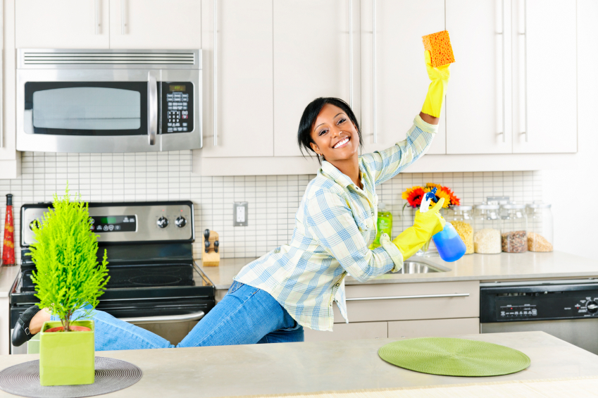 Playing music and having the right attitude can make cleaning fun.