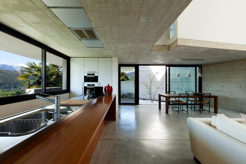 Concrete floors can have a big impact on the interior of the home whilst looking very elegant.