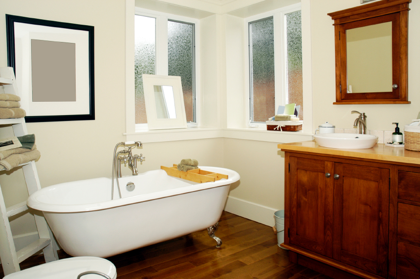 An inexpensive renovation with a clean vanity and nice flooring can make the world of difference.