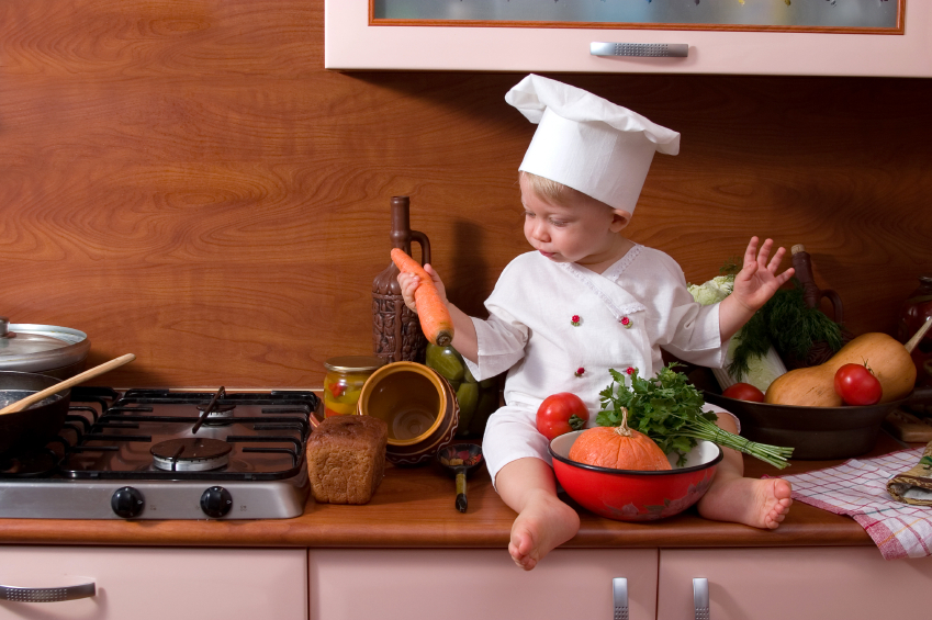 Bringing your kids in to the kitchen is essential to teach them about healthy eating.