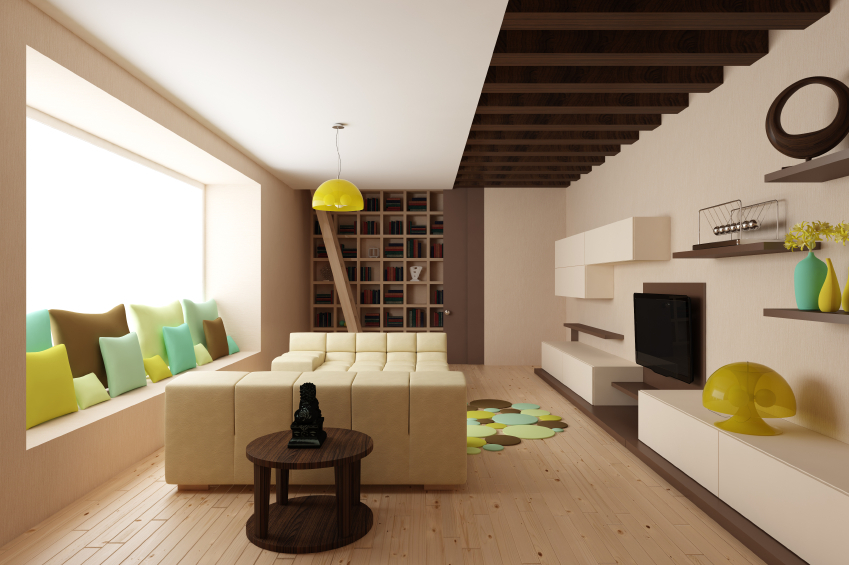 Using storage in walls, and benches doubled as resting areas can be a great way to save space and improve your rooms.