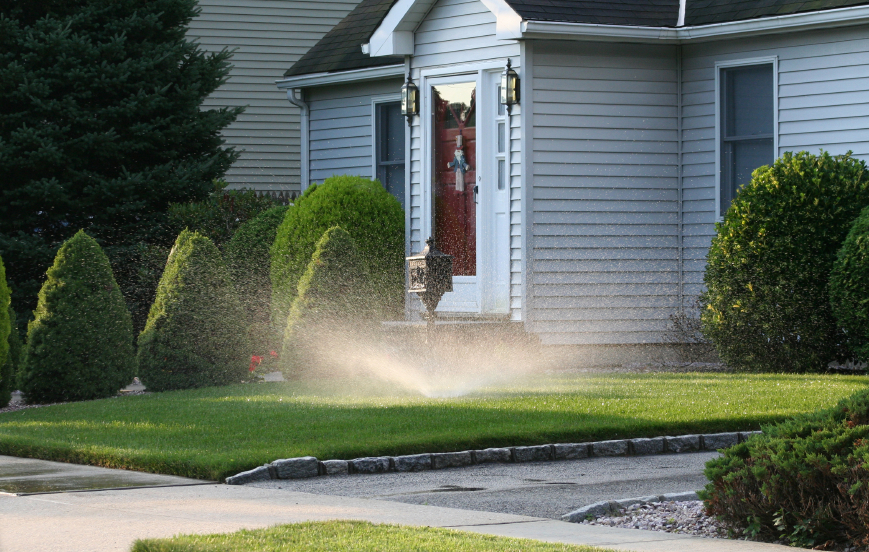 Sprinkler usage in the home can be one of the most costly usages of water. Installing silos can assist this.