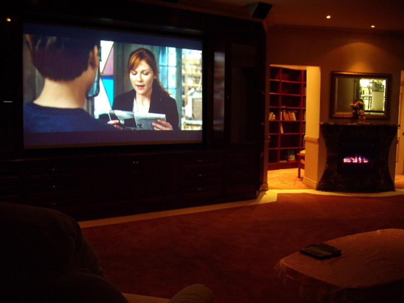 The Home cinema in a listing located in Brisbane.