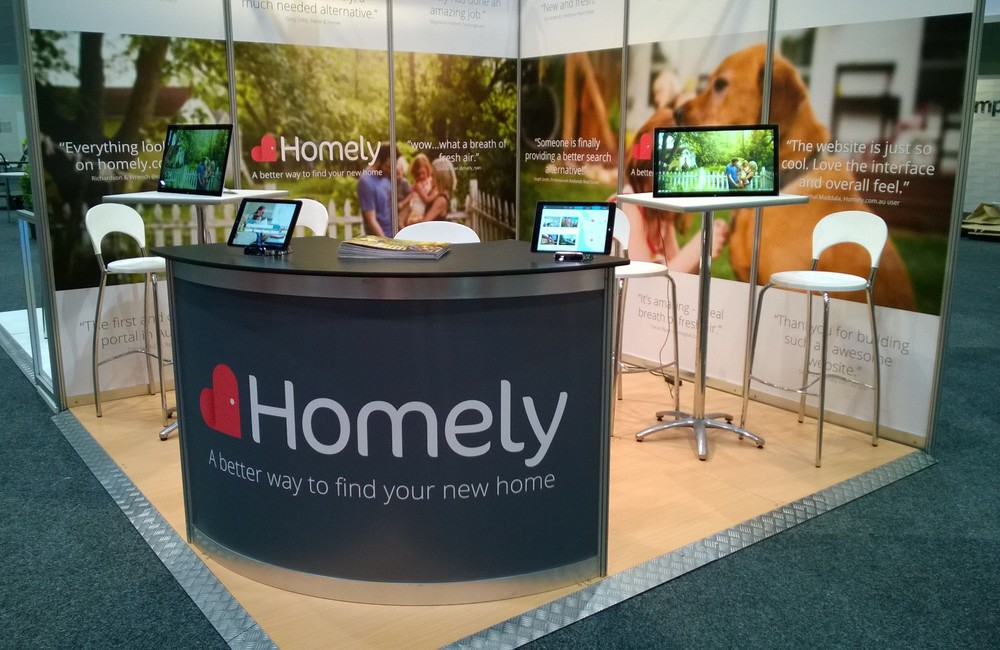The booth of Homely.com.au at AREC 2014