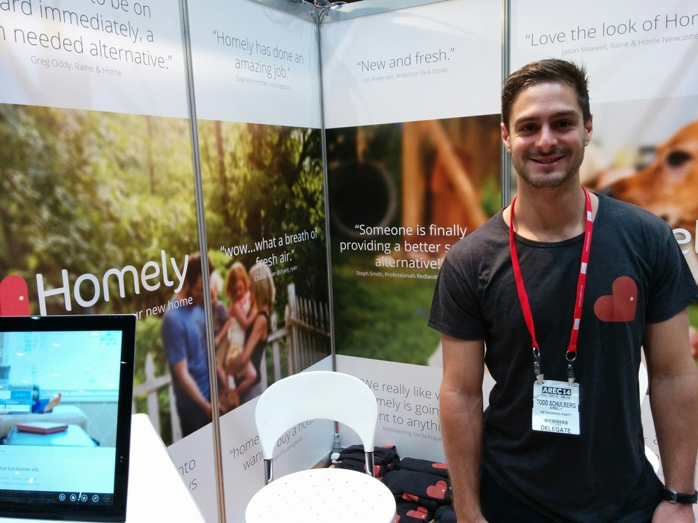 Todd (Me) on the booth on Day 2. It was great to get such overwhelmingly positive feedback.