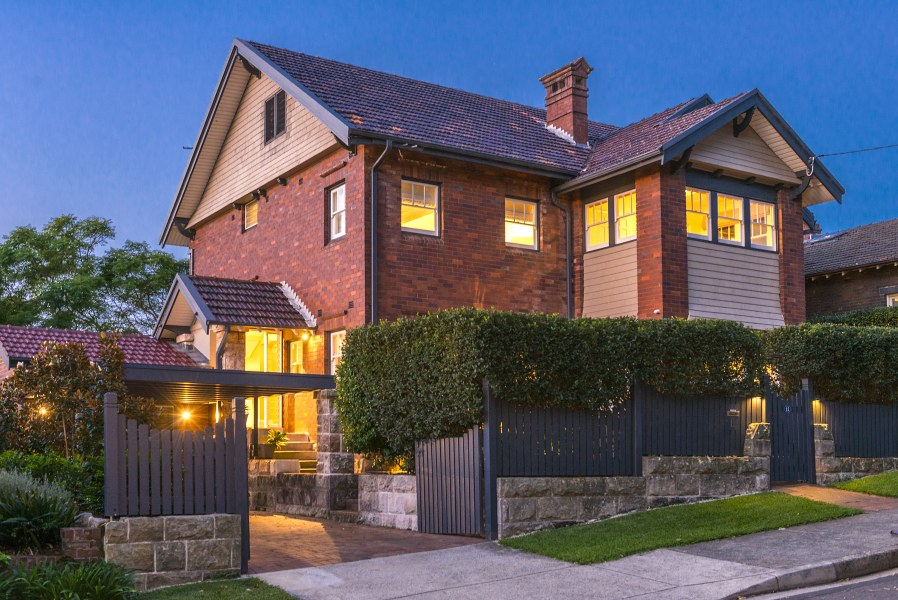 The house at 11 Whiting Beach Road, Mosman View  here
