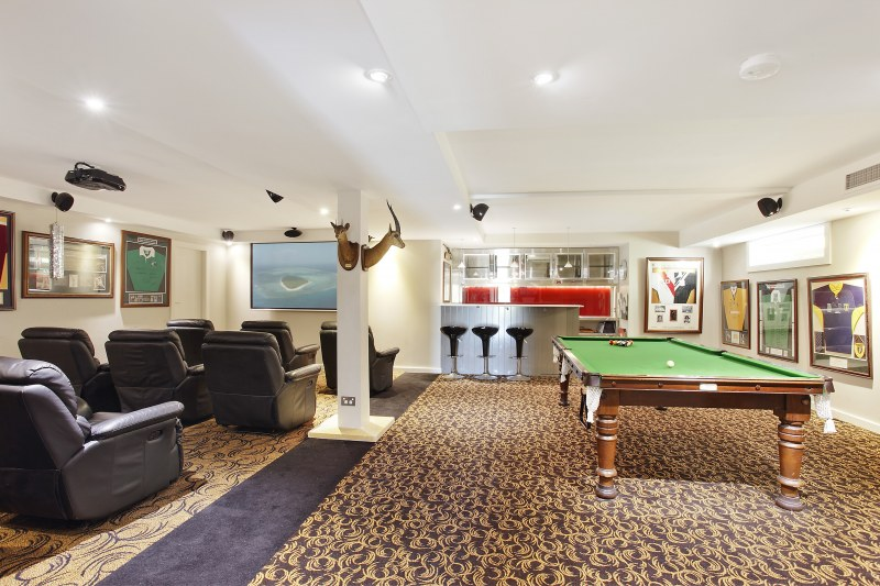 This home also comes with a billiard table and cinema.