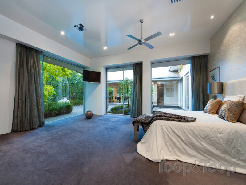One of the spacious bedrooms in 10 Malcolm Street, Milswood