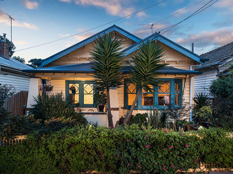 A property at 10 Dudley Street, Footscray that is benefiting from a boom in the area.