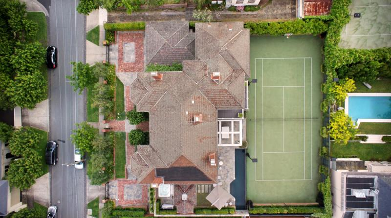 The overhead view of 23 Power Avenue, Toorak