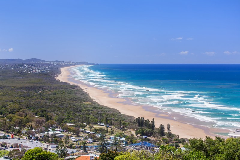 The views from the top level of 14 Grandview Drive, Coolum Beach.