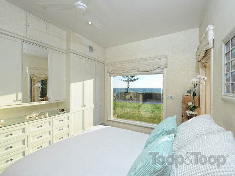 One of the cost bedrooms on offer, also with an ocean view.