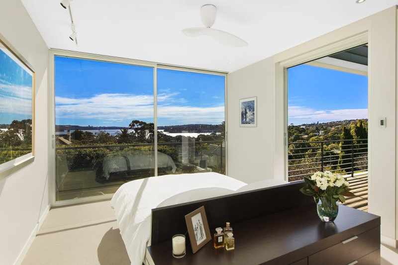 The bedrooms have some of the best views on offer in Vaucluse, with natural sun flooding the room.