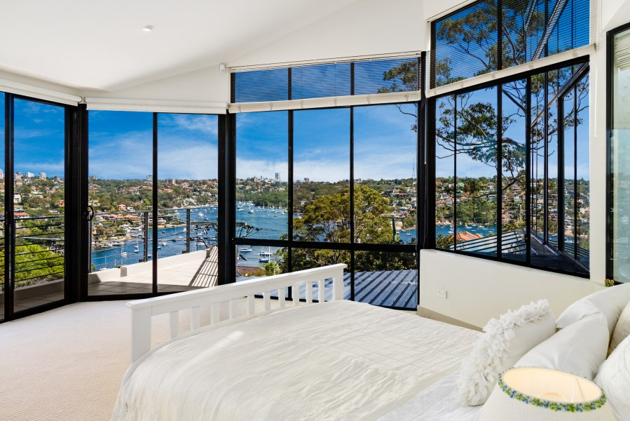 One of the five bedrooms on offer at 2 Pindari Avenue, Mosman.