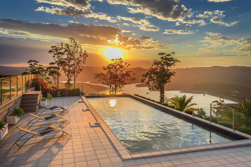 The poolside view, an incredible way to watch the sunset.