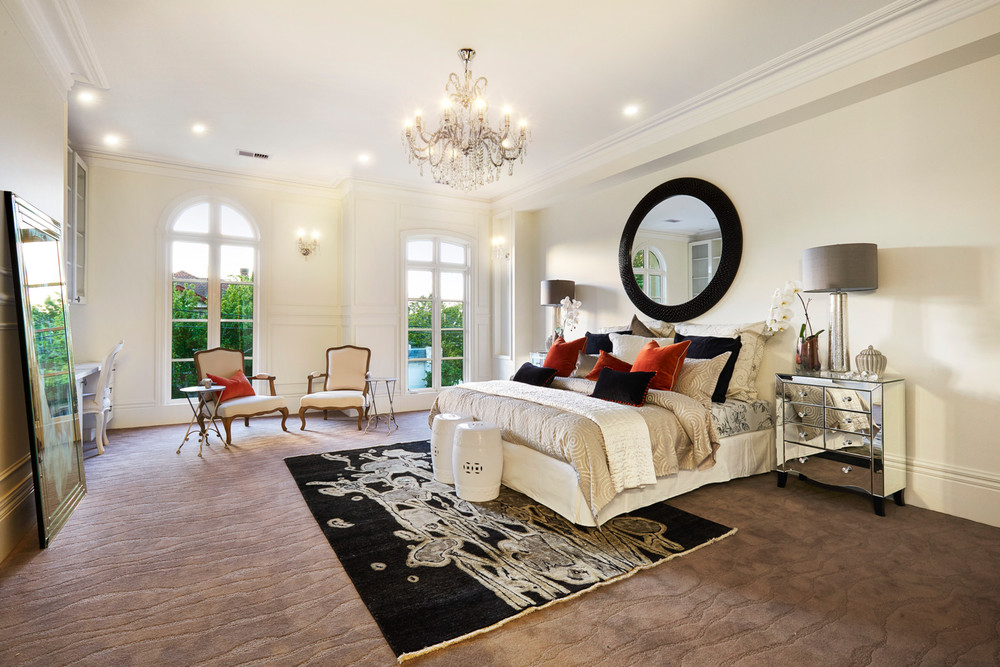 The master bedroom with an abundance of space on offer.