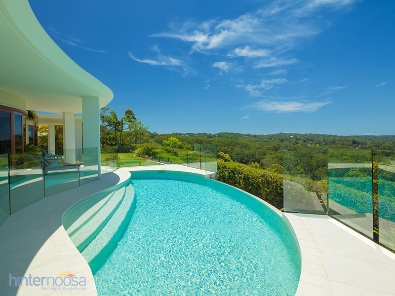 The panoramic views from the pool provides endless greenery.