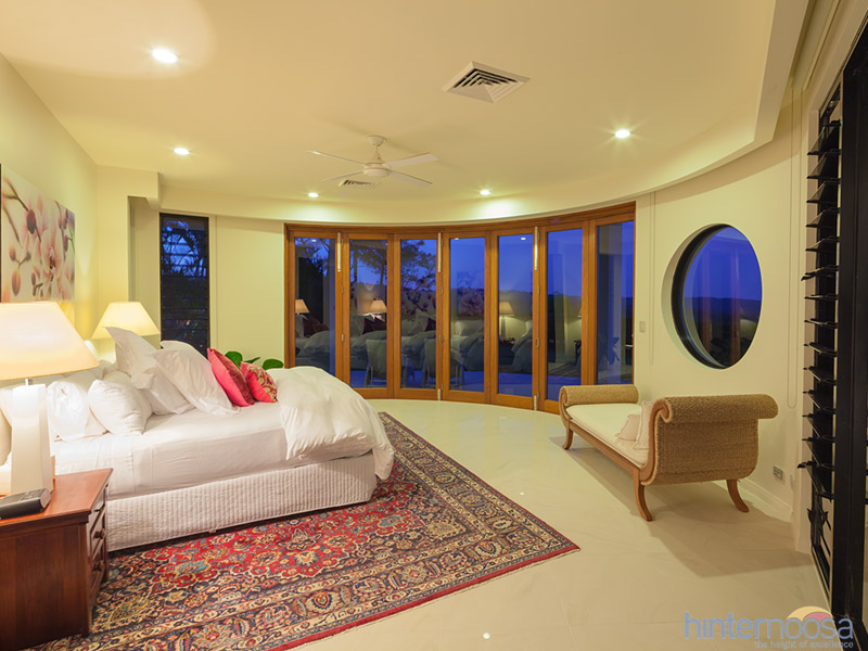 The bedrooms provide natural light and incredible views.