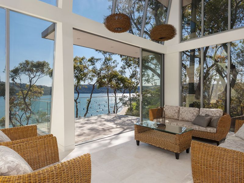 The living area opens up on to a spacious balcony with unrivalled views.