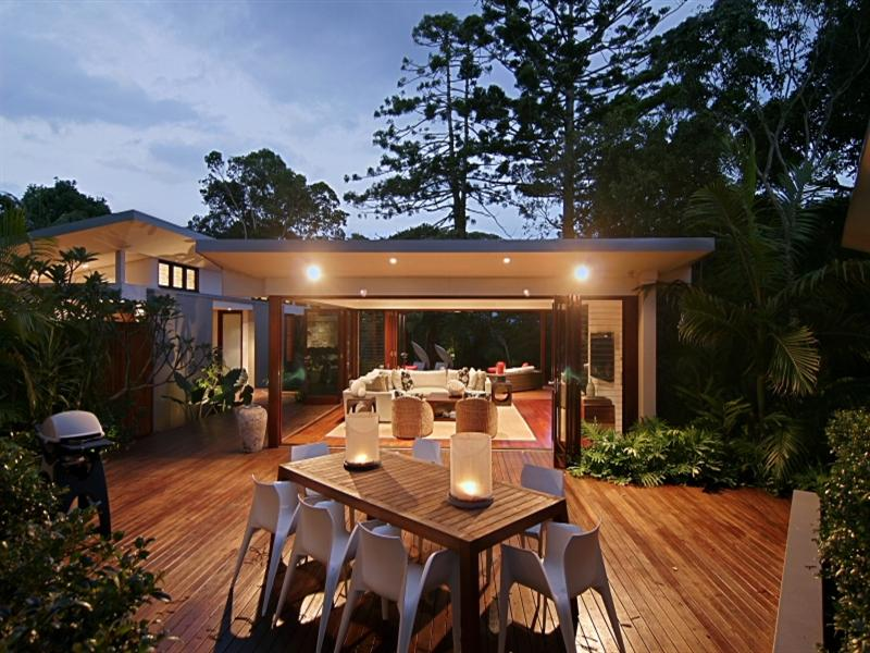 There's plenty of room for entertaining on the gorgeous decking area.