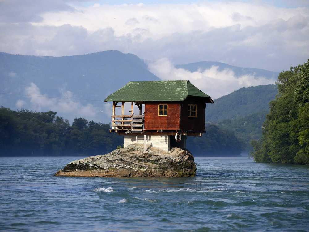 Located inSerbia's river Drina