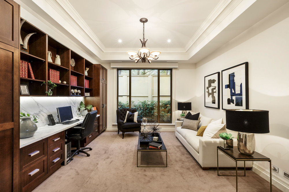 The study and spacious area at 17 Fraser Street, Malvern.