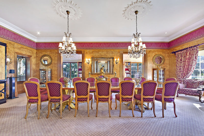 The magical interior, with fairy tale like fittings and fixtures.