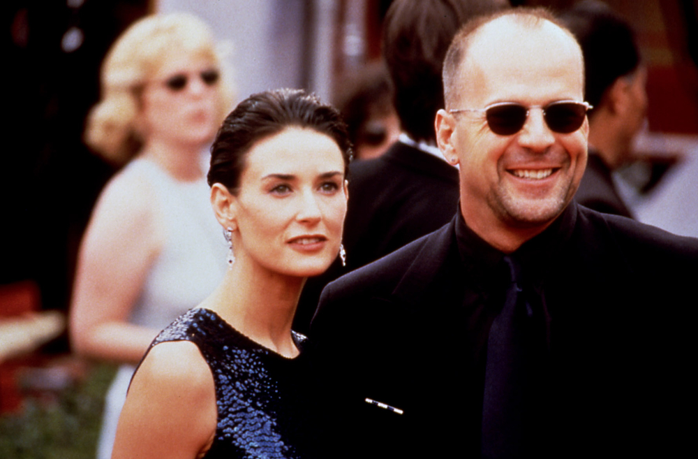 Demi Moore, back in 1997 with former husband, Bruce Willis.