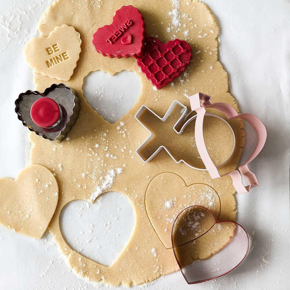 Valentine Heart Stamp Cookie Cutter Set by Williams-Sonoma, $18.