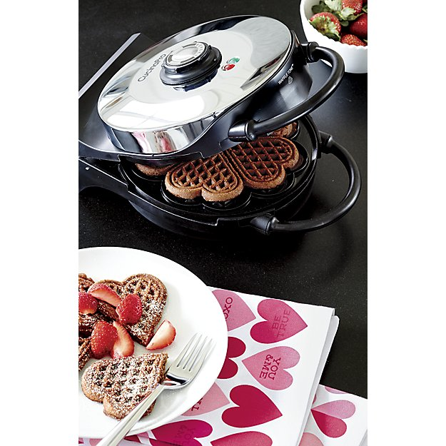 Heart Shaped Waffle Maker by CucinaPro from Crate&Barrel , $74.70.