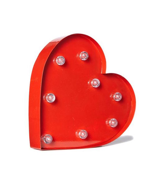 Heart Marquee Light by Typo, $39.99.